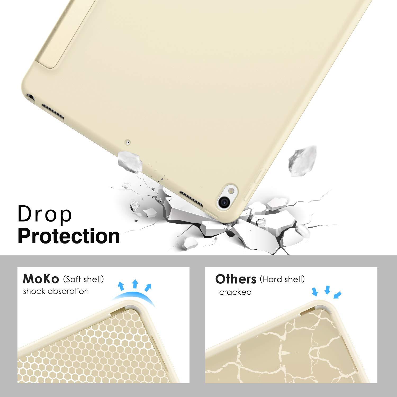 Nero MoKo New iPad Air 3rd Generation 10.5 2019 // iPad PRO 10.5 2017 Case Custodia Cover Sottile Leggero con Protezione Posteriore Traslucida Glassata