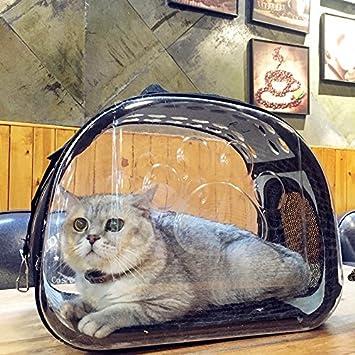 Transportín de viaje para mascotas, Easylifer plegable transparente transportador de mascotas, paquete de mascotas
