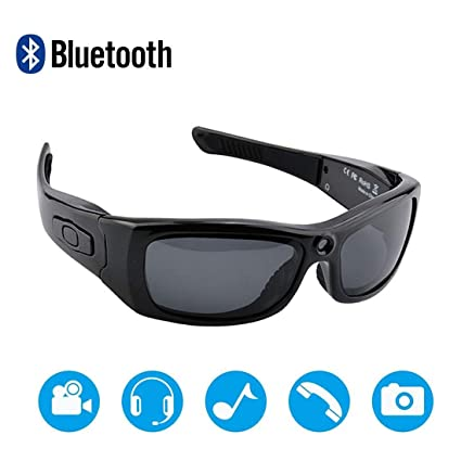 30baf38cf660 Amazon.com: Newwings Bluetooth Sunglasses Camera Full HD 1080P Video  Recorder Camera with UV Protection Polarized Lens, Great Gift for Your  Family and ...