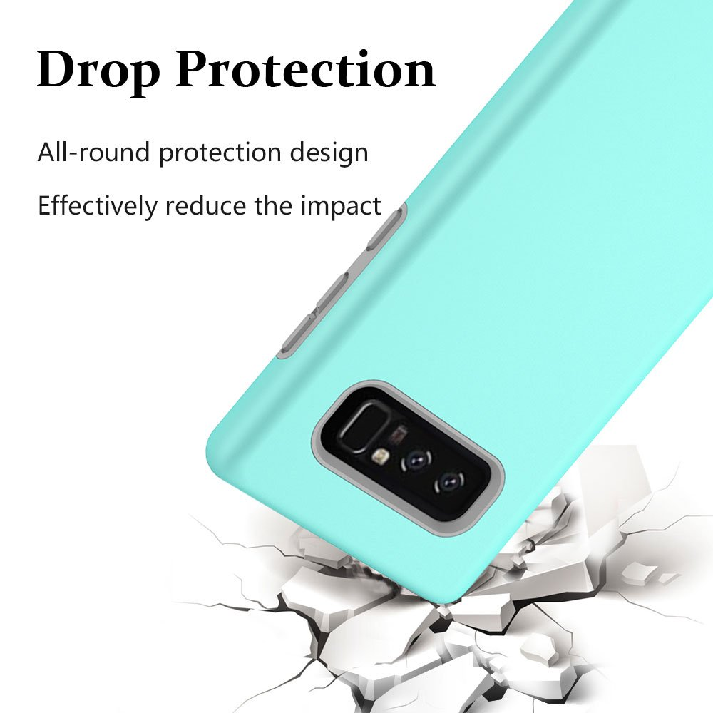 Note 8 Case, Galaxy Note 8 Case, MagicSky Slim Corner Protection Shock Absorption Hybrid Dual Layer Armor Defender Protective Case Cover for Samsung Galaxy Note 8 (Cyan)