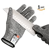 Pictek Cut Resistant Gloves,(1 Pair) Knife Cut Proof Gloves High Performance Level 5 Protection Protective, Middle Size