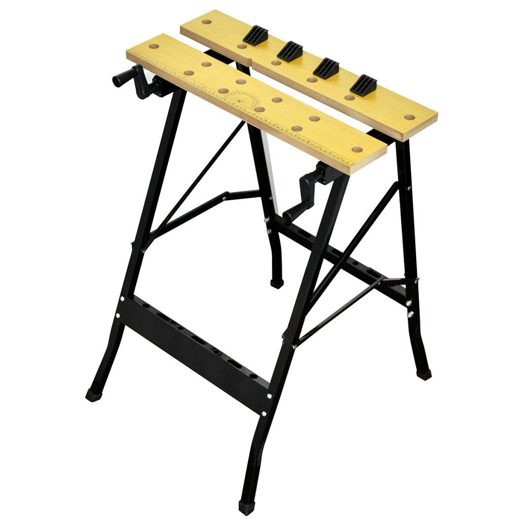 Festnight Portable Durable Work Bench for Cutting Painting Measuring 24.4'' x 22'' x 29.5''