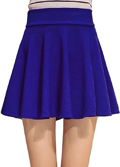 Tuopuda Falda Mujer Elástica Falda Plisada Básica Patinador Falda ...