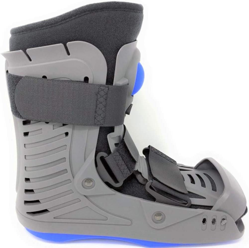 Superior Braces Low Top, Open-Toe, Closed-Toe, Low Profile Air Pump CAM Medical Orthopedic Walker Boot for Ankle & Foot Injuries, Gray (Medium)