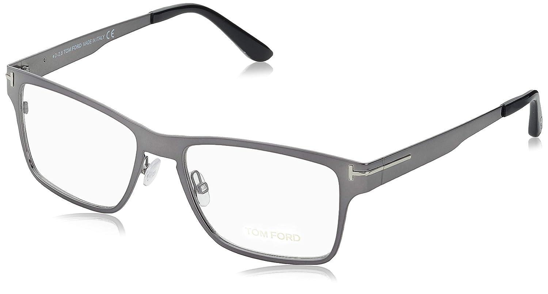 28f3b1fb21 Eyeglasses Tom Ford FT 5475 12V shiny dark ruthenium   blue at Amazon Men s  Clothing store