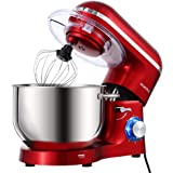 Aucma Stand Mixer,6.5-QT 660W 6-Speed Tilt-Head Food Mixer, Kitchen Electric Mixer with Dough Hook, Wire Whip & Beater 2…