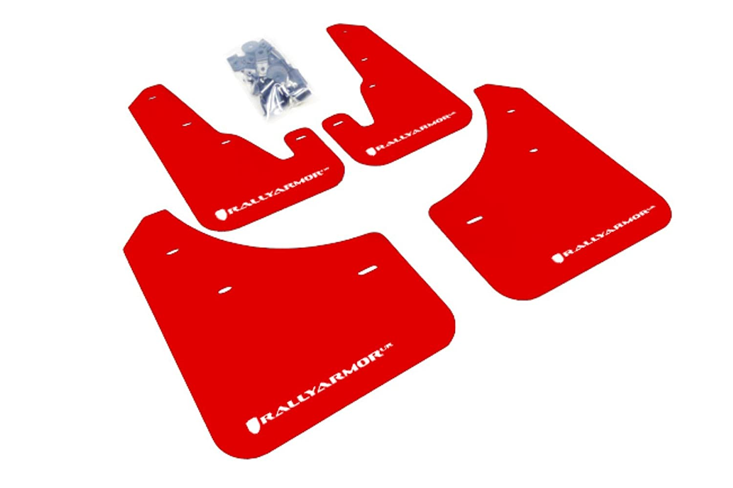 Rally Armor MF9-UR-RD//WH Red White Mud Flap with Logo 2004-2009 Mazda3//Speed 3 UR