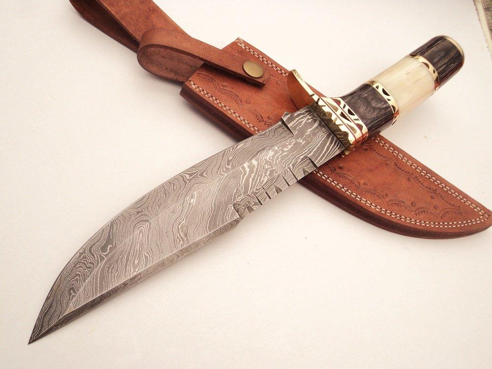 Amazon.com: dkc-819 Capella Bowie Acero de Damasco cuchillo ...