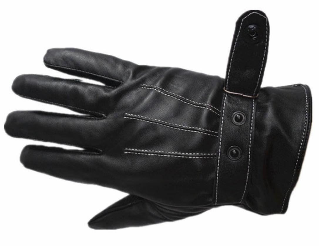 Perman Mens Luxurious PU Leather Winter Super Driving Warm Gloves Cashmere Vogue by Perman (Image #5)