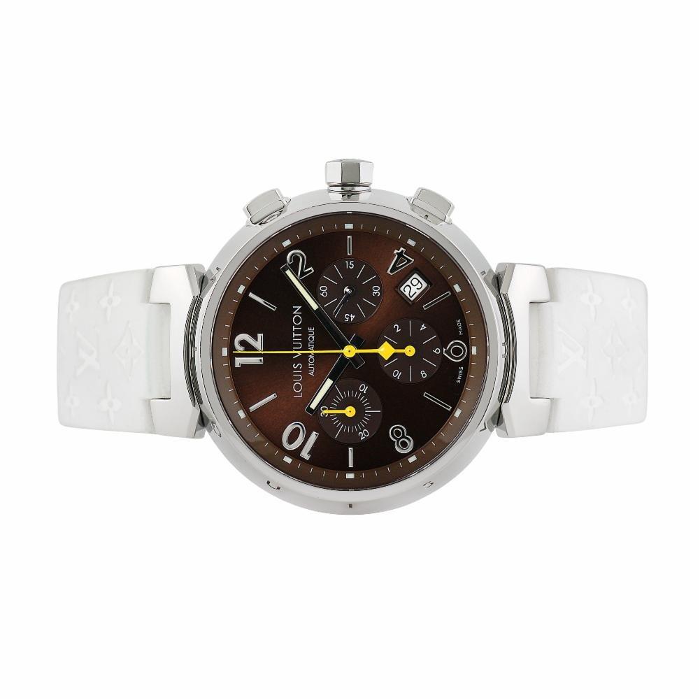 Louis Vuitton tambour chronographe Swiss-automatic montre pour homme Q1121 (certifié Pre-owned): Louis Vuitton: Amazon.fr: Montres