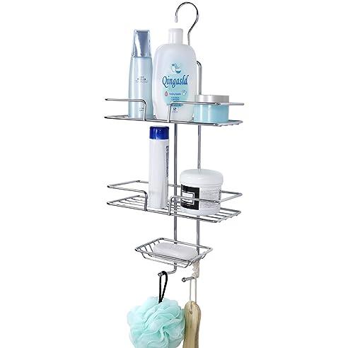 lifewit duschkorb duschregal zum hngen duschablage mit 3 krben ohne bohren regal dusche hngeablage verchromter stahl - Duschzubehor Zum Hangen