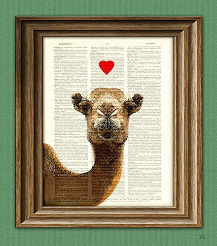 camel-in-love-beautifully-upcycled-vintage-dictionary-page-book-art-print