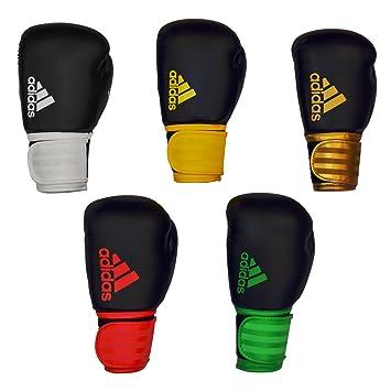 3ed71c8ee Adidas Hybrid 100 Boxing gloves 14oz black red  Amazon.co.uk  Sports ...