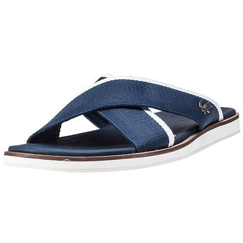 169469b0bf2 Lacoste Coupri Sandals Blue 8 UK  Amazon.co.uk  Shoes   Bags
