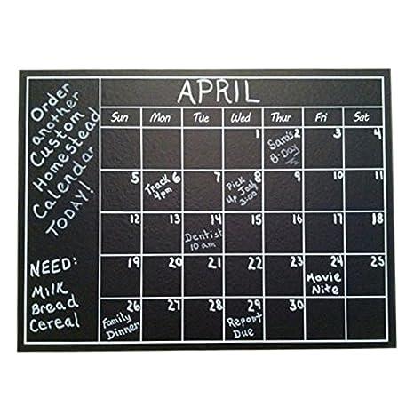 Amazon Com Chalkboard Calendar Wall Sticker Blackboard Organizer
