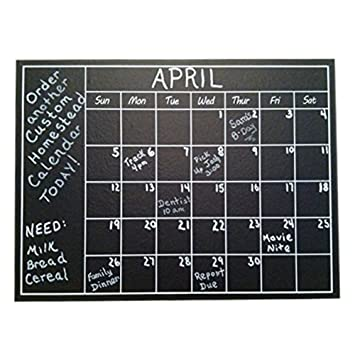 Amazon.com : Chalkboard Calendar Wall Sticker - Blackboard Organizer ...