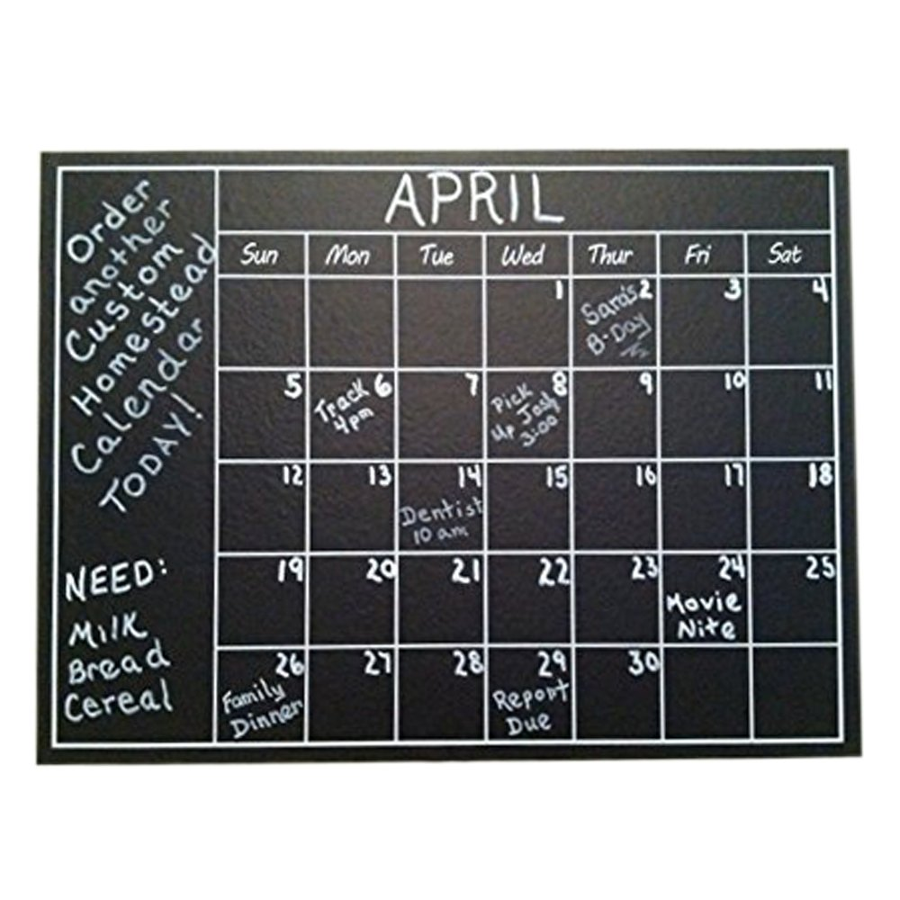 Chalkboard Calendar Wall Sticker - Blackboard Organizer Decal