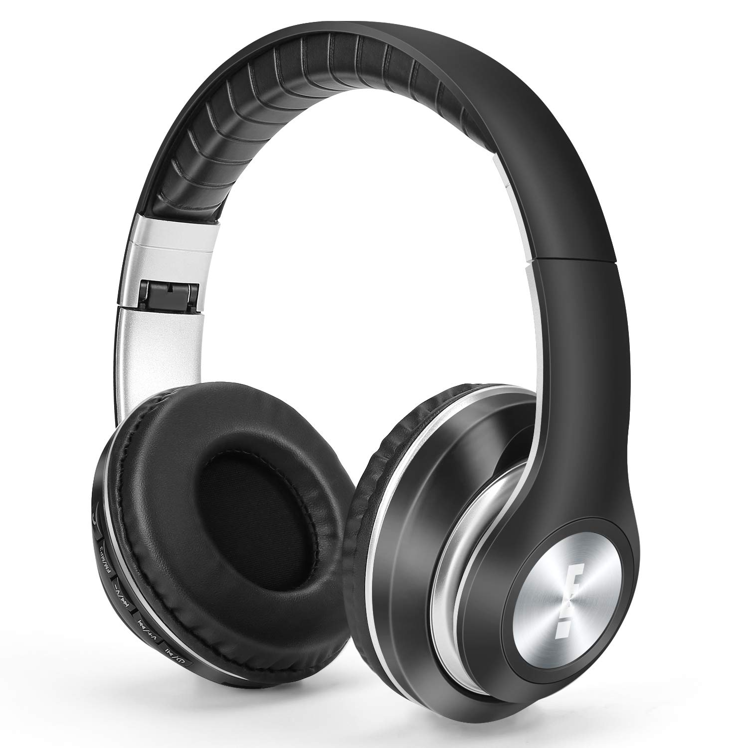 Wireless Bluetooth Headphones Over Ear, 3D Hi-Fi Stereo Wireless Headset, Foldable, Soft Memory-Protein Earmuffs, w/Built-in Mic Wired Mode PC/Cell Phones, with MP3 Mode FM TF
