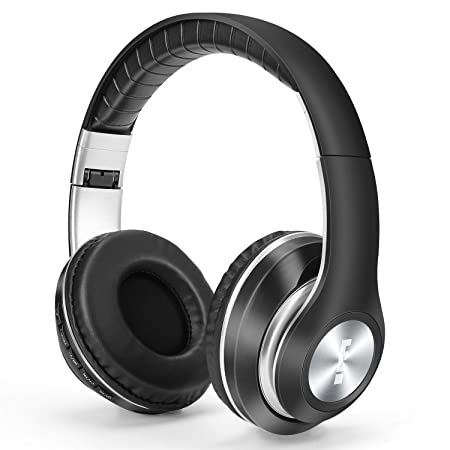 Wireless Bluetooth Headphones Over Ear, 3D Hi-Fi Stereo Wireless Headset, Foldable, Soft Memory-Protein Earmuffs, w Built-in Mic Wired Mode PC Cell Phones, with MP3 Mode FM TF