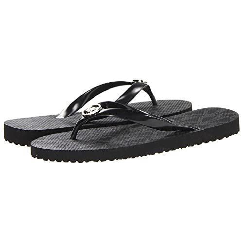 77f9147b4994 Image Unavailable. Image not available for. Color  Michael Kors Jet Set  Rubber Flip Flops ...