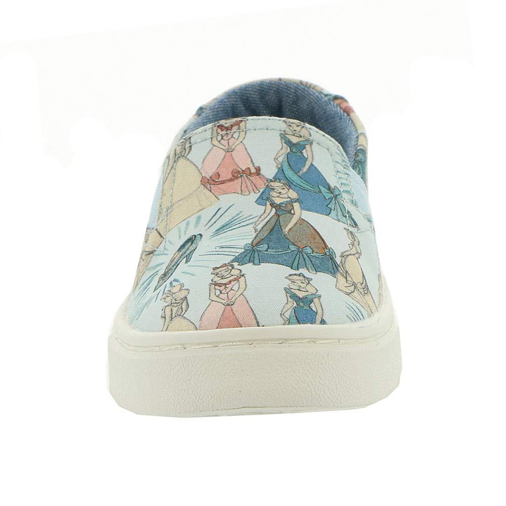 TOMS Girl's, Luca Slip on Shoes Disney Cinderella 1.5 M by TOMS Kids (Image #5)