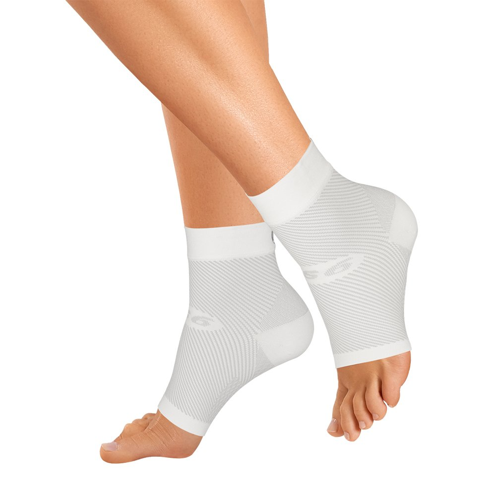 OrthoSleeve FS6 Compression Foot Sleeve (Pair), White, X-Large by OrthoSleeve