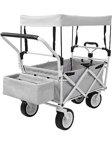 Carro Plegable de Mano Carro de Transporte Plegable Carretillas de Carro con Mango Antideslizante para Jardín