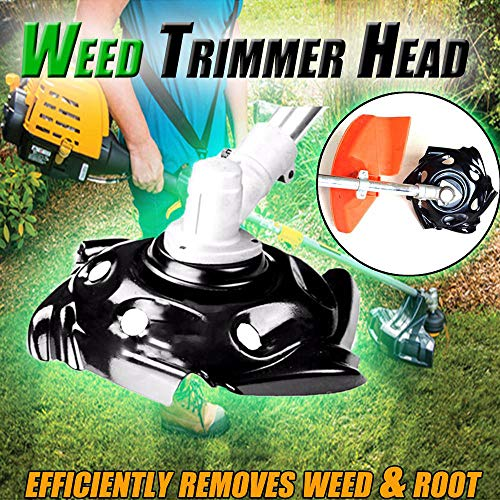 (NszzJixo9 Weed Trimmer Head Lawn Mower Sharpener Weed Trimmer Head for Power Lawn Mower Rimmer Head Coil Chain Brush Grass forPerfect Replacement )