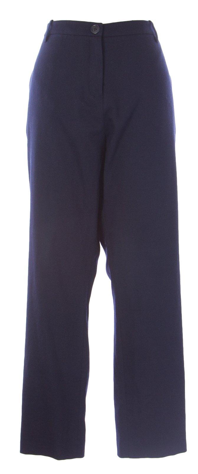 BODEN Women's Fine Wool Flared Pants US Sz 18L Navy