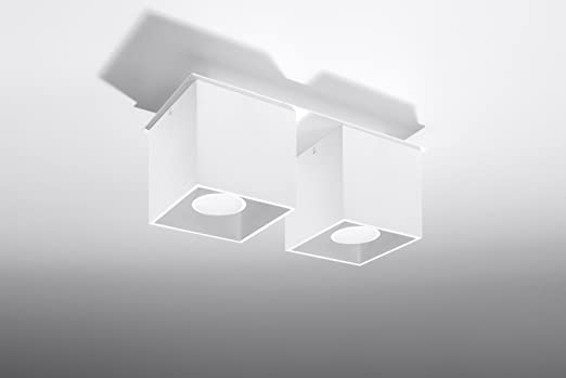 Bauhaus Deckenleuchte B10cm L26cm 2 Flmg Bauhaus In Weiss Rechteckiger Schirm Kuchenleuchte Innenlampe Flurlampe Deckenlampe Amazon De Beleuchtung