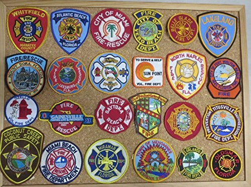 FLORIDA FIRE/RESCUE DEPARTMENT PATCHES! SET ONE! LOT OF 24!