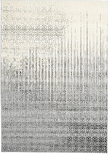 Unique Loom Del Mar Collection Contemporary Transitional Gray Area Rug (7' 0 x 10' - White Accent Transitional Rug