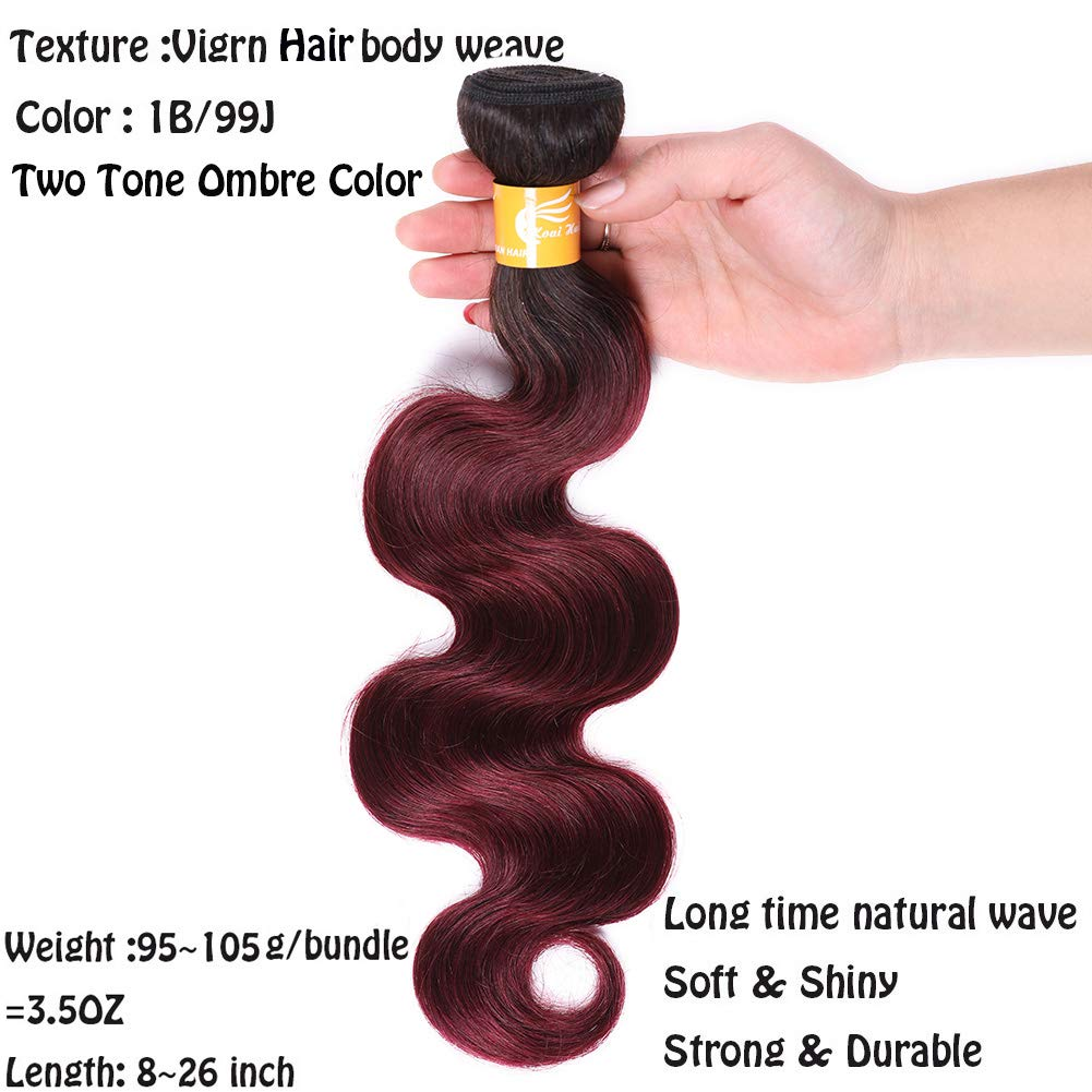Sporting Ombre Peruvian Curly Hair Weave Bundles T1b/99j Black To Red Wine Color Kinky Curl Human Hair Weave 4 Bundles Hair Weaves