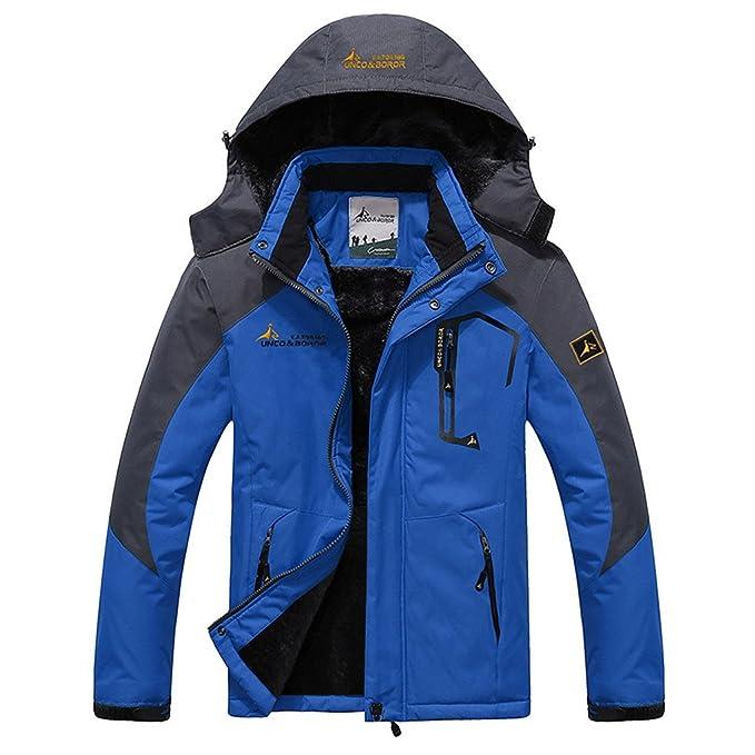 f3e682587bc Panegy - Chaqueta Hombre Impermeable Deportiva para Esquí Snowboard Chaqueta  a prueba a Viento de Nieve