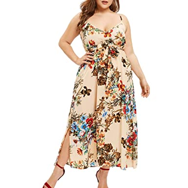 Amazon.com: BOLUOYI Women\'s 3/4 Sleeve Floral Printed Maxi ...