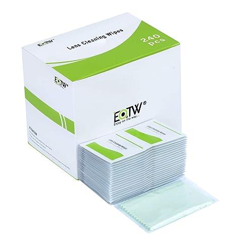 Toallitas Limpia Gafas, EOTW 240 Unidades Prehumedecidas Limpieza de Lentes con 1 Paños de Limpieza para iPhone Samsung Galaxy iPad Tabletas Smartphone ...