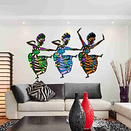 Amazon Com Style Apply African Art Dancers Wall Decal Sticker By
