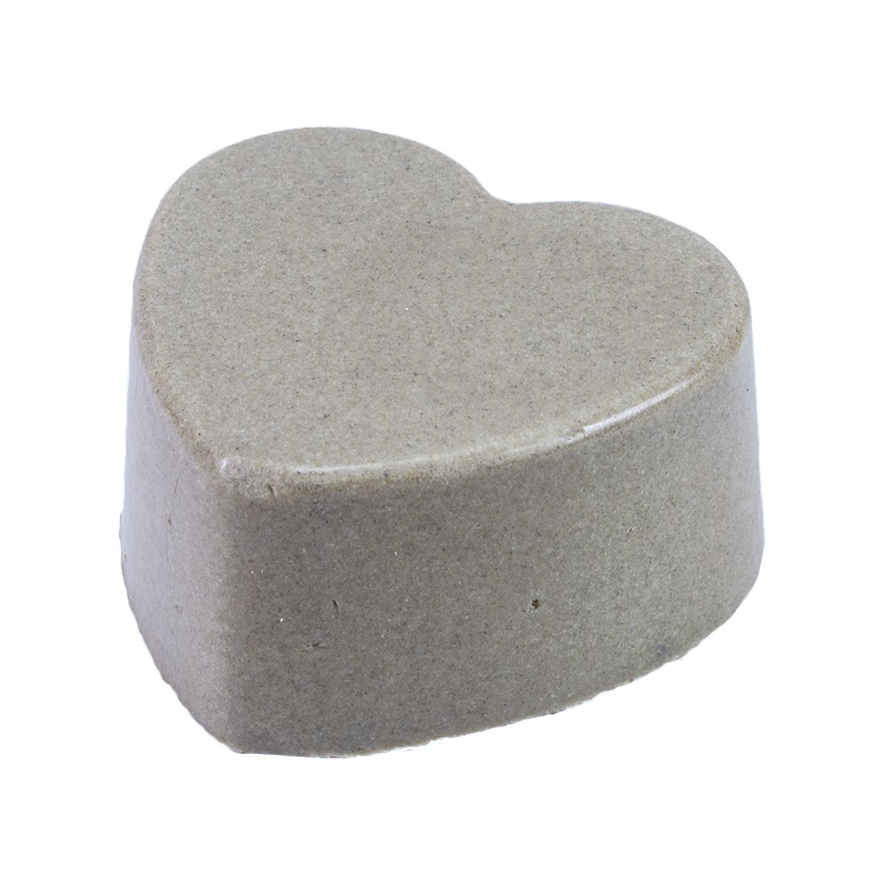 Lava Love Heart Vegan Volcano Soap Made with Volcanic Ash (Bentonite, Zeolite, Pumice) From Oregon, and Shea Butter, One 3.5 Ounce Bar