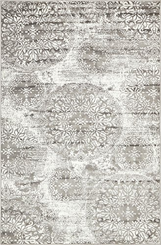 Modern Vintage Inspired Overdyed Area Rugs Gray 5′ x 8′ FT Wembley Rug – moder ...