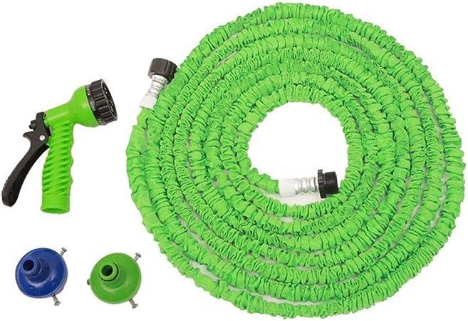 Manguera de riego Jardín del tubo de agua 25-200FT Extended flexible mágico del agua de riego manguera de jardín manguera del rociador telescópico pistola de agua de riego Conjunto de coches: Amazon.es: