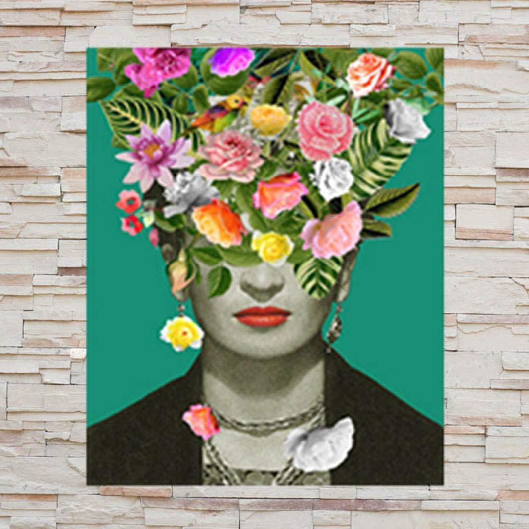 12inch 8 guantongda Poster D/élicat Imprim/é Tissu de Soie M/éditation avec Fleurs Maison D/écoration Bureau D/écoration Murale D/écoration Maison