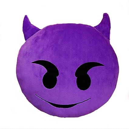 Gadget Paradise Devil Whatsapp Emoji Pillow Car Cushion