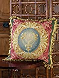 French Evolution Aubusson Pillows, Multi-Colored (20'' Square)