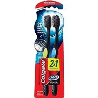 Cepillo Dental Colgate 360 Black 2 Piezas