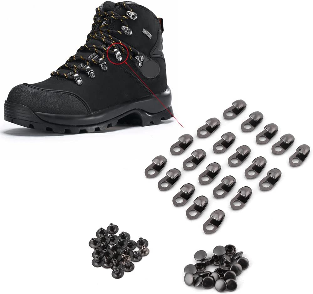 FTVOGUE 20 Teile Stiefelspitze Haken Schuhe Stiefelspitze Schnallen Armaturen Mit Nieten f/ür Reparatur Camp Hike Climb Zubeh/ör