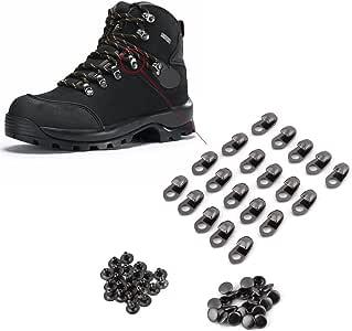 Ganchos de encaje para botas Hebillas para cordones Remaches de cuero Remache de doble tapa Decoraci/ón para reparaci/ón Accesorios de escalada de campamento