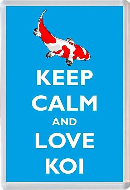 Keep Calm And Love Koi - Jumbo imán para nevera - Marca nuevo ...