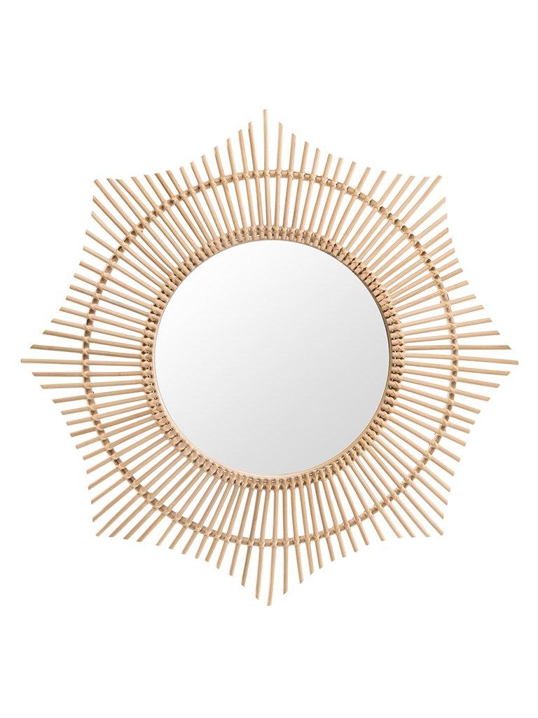 KOUBOO 1040155 Rattan Round Halo Wall Mirror, Natural