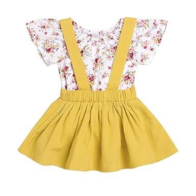 K-youth® Vestido para Niñas, Ropa Bebe Niña Vestido de Falda de ...