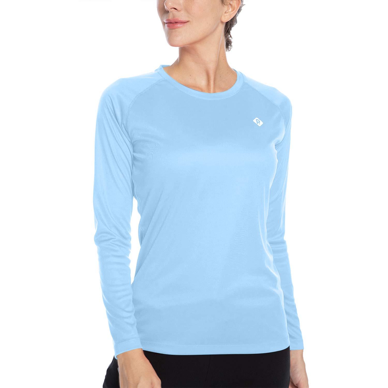 Sun Protection Cool Fast Dry Rashguard Long Sleeve Athletic Tops T Shirt Womens UPF 50